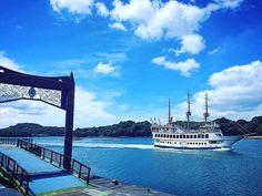 いいね!46件、コメント1件 ― かづみ(Kazumi)さん(@jazz_singer_kazumi)のInstagramアカウント: 「九十九島遊覧船 パールクィーン号🚢 海の女王のイメージなのですって☆ #遊覧船 #船 #seaside #sasebo #nagasaki #九州 #kyusyu #sea #sky…」