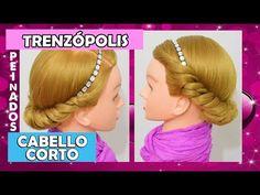 Peinados Faciles y Rapidos para Niña con Trenzas Nudo para Cabello Corto Visita mi Web: curiositip.com