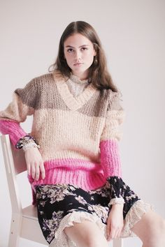 2ND Blogger - Driftwood by 2ND DAY | VILLOID chunky pull over color block Driftwood, 2 In, Pullover, News, Sweaters, Color, Fashion, Moda, Fashion Styles