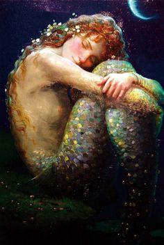 ~~The little mermaid~~ ( art by Victor Nizovtsev ) Mythical Creatures, Sea Creatures, Victor Nizovtsev, Mermaid Fairy, Water Nymphs, Mermaids And Mermen, Merfolk, Under The Sea, Faeries