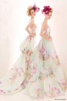 The Hottest 2015 Wedding Dress Trends — Part 3: Colors | Wedding Inspirasi