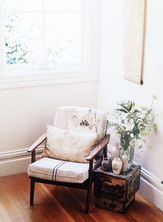 cozy clean corner #chair