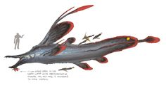 ArtStation - The Whale Fall - Beneath the Waves Challenge, Zhengyi Wang Curious Creatures, Alien Creatures, Prehistoric Creatures, Fantasy Creatures, Mythical Creatures, Sea Creatures, Alien Concept Art, Creature Concept Art, Creature Design