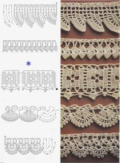 gift presents for crafter: arts and craft books, crochet magazine Crochet Edging Patterns, Crochet Lace Edging, Crochet Motifs, Crochet Borders, Crochet Diagram, Crochet Chart, Lace Patterns, Thread Crochet, Crochet Trim