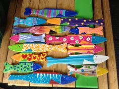 Could do with paper mache, too. Love the colors!!!! Fish!