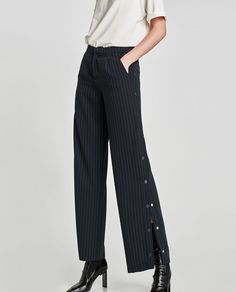 Image 2 of TROUSERS WITH SNAP BUTTONS ON THE SIDES from Zara