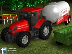 014 - Ref. FarmScene2 :: 3D Farm Scene - TAEVision Engineering - Solutions for Agriculture, Farm...