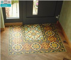 Casa: 1 # cement tiles in the entrance - beautifully combined with wood. - Casa: 1 # Cement tiles in the entrance – beautifully combined with wood. The surface consists of - Floor Design, House Design, Hallway Flooring, Interior Decorating, Interior Design, Tile Floor, Home Improvement, Sweet Home, House Styles