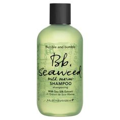 Bumble and Bumble Seaweed Shampoo . A mild, moisturizing, daily shampoo with marine extracts that feed roots, add shine and keep scalps happy. Bumble And Bumble Seaweed Shampoo, Bumble And Bumble Products, Mild Shampoo, Hair Shampoo, Shampoo And Conditioner, Sephora, Sea Silk, Coarse Hair, Blue Nails