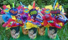 Wonder Woman Party Decorations | LIMITED EDITION Wonder Woman Kids Candy by LynnsCandyCreations