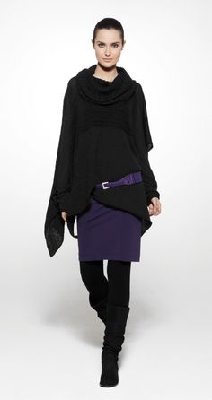 Sarah Pacini- Fall 13- love the purple/blue with the black/charcoal and the silhouette