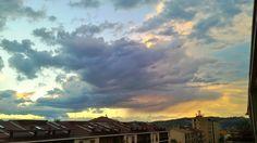 Rainy sunset on Alba