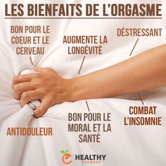 Les bienfaits de l'orgasme Sante Plus, Good Vibes Only, What Is Life About, Nutrition, Make You Smile, Did You Know, Knowing You, Fitness, Affirmations