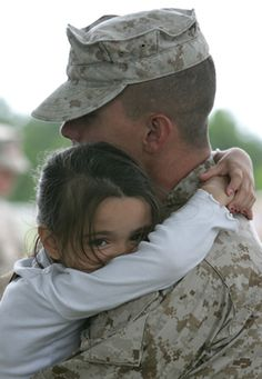 So glad you are home...I love you...And I missed you...toughest part of being in the military !