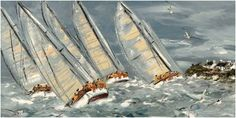 Art Print: Reagate au Pres Art Print by Christian Sanseau by Christian Sanseau : Nautical Painting, Black Rock, Sailing Ships, Opera House, Presidents, Surfing, Boat, Christian, Travel