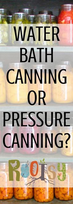 Canning foods is a wonderful way to preserve the harvest. Which is the best way? Water bath canning or pressure canning? Canning Water, Canning Tips, Home Canning, Canning Recipes, Freezer Recipes, Antipasto, High Acid Foods, Water Bath Cooking, Canning Pressure Cooker