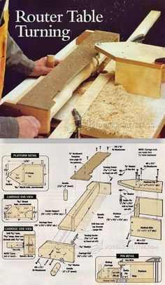 Router Table Turning - Router Tips, Jigs and Fixtures | WoodArchivist.com #WoodworkingBench