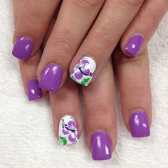 Purely picture perfect purple perennials that Peter Piper would pick over those pickled peppers any day!  by professionalnailss