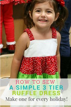 473ea5fb22 Check out this free tutorial for how to sew a ruffle dress! No pattern  necessary