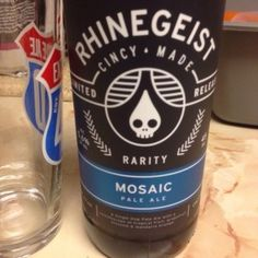 Mosaic - Rhinegeist.Mosaic Pale Ale is a American Pale Ale (APA) style beer brewed by Rhinegeist Brewery in Cincinnati, OH. 89 out of 100 with 14 ratings, reviews and opinions. Because I'm having it now and it's awesome. A single hop pale ale with a kaleidoscope of tropical fruit, grapefruit blossom, and mandarin orange..