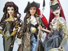 Three of my absolute favorite Barbie dolls dollepic.blogspot.com
