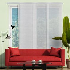 Chicology Panel Track Blinds Veil White Cordless UV Blocking Adjustable Vertical Blind with 22 in Slats Up to 80 in. W x 96 in L, Veil White (Sheer) Window Treatment Store, Window Coverings, Hidden Spaces, Sliding Panels, Shades Blinds, Wall Installation, Drapes Curtains, Valance, Patio Doors