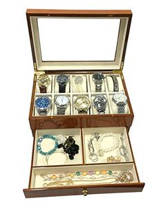 News Sodynee® Top Quality Wooden Watch Box Watch Case Display Box with a Drawer in Burlwood Oak Finish   buy now     $47.99 This top quality  Sodynee Watch Box is a beautiful show place for your watch collection. This Watch Display Box is priced to s... http://showbizlikes.com/sodynee-top-quality-wooden-watch-box-watch-case-display-box-with-a-drawer-in-burlwood-oak-finish/