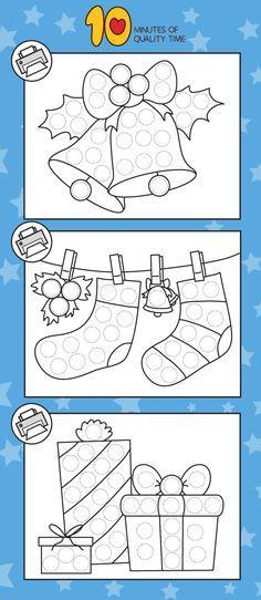 Christmas Do-a-Dot Printables – Christimas ! Christmas Carnival, Christmas Art, Christmas Projects, Simple Christmas, Christmas Activities For Kids, Preschool Christmas, Christmas Printables, Easy Arts And Crafts, Crafts To Do