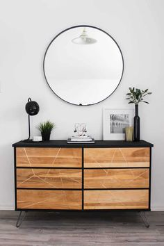 Modern Style DIY Dresser Makeover Project | Love Create Celebrate