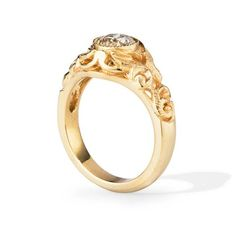 Antique Inspired Yellow Gold Engagement Ring