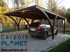 Discover thousands of images about Carport Planet - wooden structures, terrace roofing, carports, glued laminated timber structures Carport Garage, Pergola Carport, Small Pergola, Deck With Pergola, Outdoor Pergola, Backyard Pergola, Pergola Plans, Pergola Ideas, Black Pergola