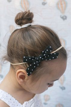 """Limited Edition Alice Bow in """"Black & White Polka Dots"""""""