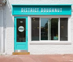 EXAMPLE OF A STANDARD WELL-MAINTAINED CLEAN STORE. Inside District Doughnut, D.C.'s 'Designer' Doughnut Shop (Giving Away Free Doughnuts Tonight)