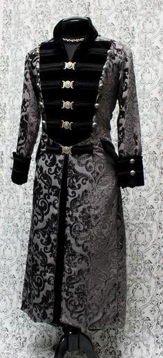DOMINION COAT - SILVER VELVET www.shrinestore,com.