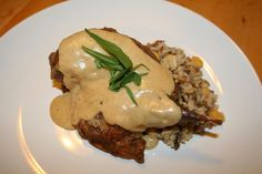 Sharp-tail grouse simmered in white wine and stock with a tarragon cream sauce