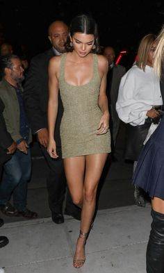 Kendall in August Getty Atelier dress and Jimmy Choo shoes //