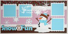 Scrapbook Page Kit Snow Fun Winter 2 page by TheScrapbookEmporium, $10.00