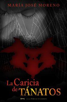 """Diseño de portada para el libro """"LA CARICIA DE TANATOS"""" de la escritora María José Moreno"""