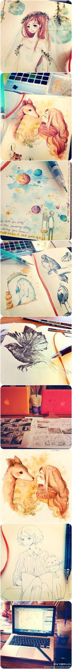 Watercolour art. The artist did a great job.