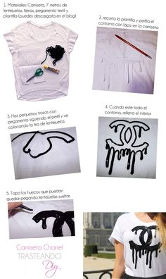 DIY...CAMISETA LOGO CHANEL DERRETIDO DIY ... CHANEL LOGO TEE MELTED