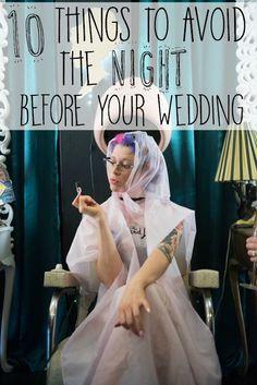 avoid before wedding