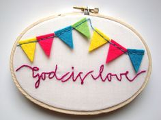 Fabric Fun Friday: Embroidery Hoop Art