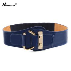New Fashion Cowskin leather Wide belts for Women Hasp Elastic Patent Leather Female Belt Girls girdle  3 color
