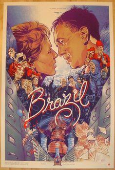 "2012 ""Brazil"" - Silkscreen Movie Poster by Martin Ansin"