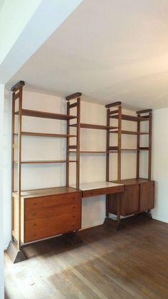Vintage Modular Teak Wall Unit - Mid Century, Modern, Shelving Unit ...