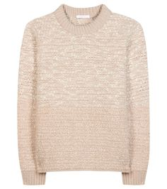 See By Chloé - Wool-blend sweater - See by Chloé creates a textural dream with this perfectly casual and pretty sweater. The wool-blend is knitted with cream and metallic fibres near the top, before fading to a neutral nude hue at the hemline. Style yours simply with a cream skirt. seen @ www.mytheresa.com