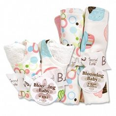 Cupcake Bib & Burp Cloth Set
