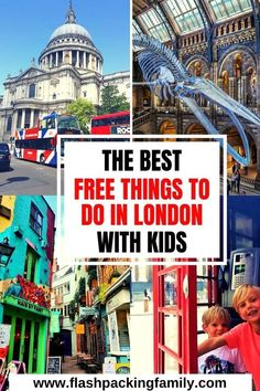 London can be an expensive city but it doesn't have to be. There are so many great free things to do in London with kids. We list 15 of the best free things to do in London to keep your London trip well within budget. Family Days Out, All Family, Things To Do In London, Free Things To Do, Europe On A Budget, Budget Travel, Travel Ideas, Travel Inspiration, Travel Tips