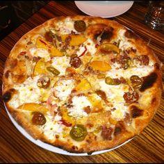 Monza Pizza, Charleston, SC Pizza Crazy, Tomato And Cheese, Hawaiian Pizza, Charleston Sc, Road Trips, Vegetable Pizza, Restaurants, Menu, Dishes