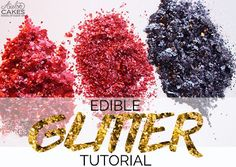 Easy homemade edible glitter recipe using ingredients that you can find in your pantry! Learn how to make edible glitter EASY!